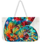Colorful Nautilus Shell By Sharon Cummings Weekender Tote Bag