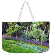 Colorful Park With Flowers Weekender Tote Bag