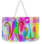 Colorful Texturized Alphabet Ww Weekender Tote Bag