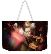 Comedy Entertainment Man On Theater Stage Weekender Tote Bag