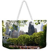 Concert At Bryant Park Weekender Tote Bag by Dora Sofia Caputo Photographic Art and Design