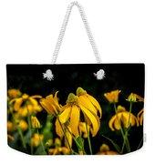 Coneflowers Echinacea Yellow Painted Weekender Tote Bag