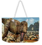 Confrontation With A Carnivorous Weekender Tote Bag