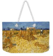 Corn Harvest In Provence Weekender Tote Bag