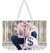 Corrupt Business Thief In A Smart Stealing Scam Weekender Tote Bag