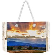 Country Beams Of Light Barn Picture Window Portrait View  Weekender Tote Bag