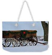 Country Christmas Weekender Tote Bag