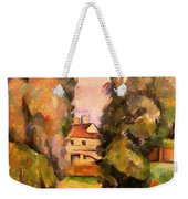 Country House By A River Weekender Tote Bag