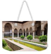 Courtyard Of The Maidens In Alcazar Palace Of Seville Weekender Tote Bag