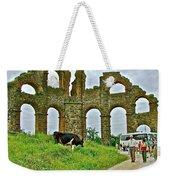 Cow By Second Century Aspendos Aqueduct-turkey Weekender Tote Bag