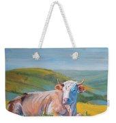 Cow Lying Down Weekender Tote Bag