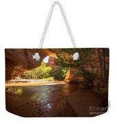 Coyote Natural Bridge - Coyote Gulch - Utah Weekender Tote Bag by Gary Whitton