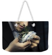 Criminal With Weeds And Green Grass Weekender Tote Bag