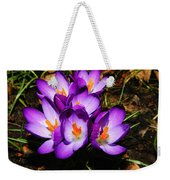 Crocus Flower Weekender Tote Bag