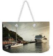 Cruise Ship At Port, Kingstown, Saint Weekender Tote Bag