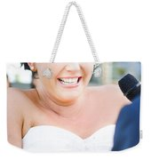 Crying And Laughing Bride Weekender Tote Bag