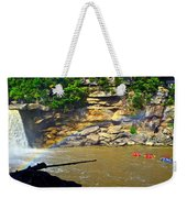 Cumberland Falls Rainbow Weekender Tote Bag by Frozen in Time Fine Art Photography