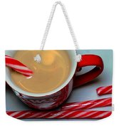 Cup Of Christmas Cheer - Candy Cane - Candy -  Irish Cream Liquor Weekender Tote Bag by Barbara Griffin