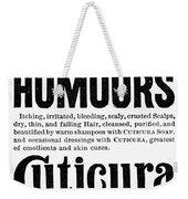 Cuticura Ad, 1898 Weekender Tote Bag