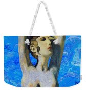 Cyprus Map And Aphrodite Weekender Tote Bag