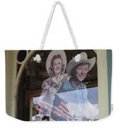 Dale Evans Roy Rogers Cardboard Cut-outs Flag Reflection Helldorado Days Tombstone 2004 Weekender Tote Bag