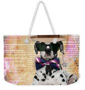 Dalmatian Bowtie Collection Weekender Tote Bag