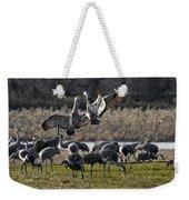 Dance Of The Cranes Weekender Tote Bag