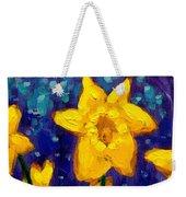 Dancing Daffodils Cropped  Weekender Tote Bag