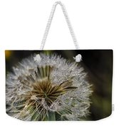Dandelion With Water Drops Weekender Tote Bag