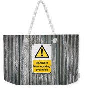Danger Sign Weekender Tote Bag