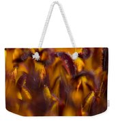Bordeaux Red Stamens Weekender Tote Bag