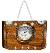 Dashboard In A Classic Wooden Boat Weekender Tote Bag