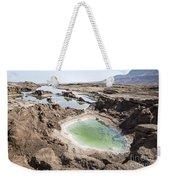 Dead Sea Sinkholes  Weekender Tote Bag by Eyal Bartov
