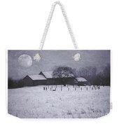 December Moonrise Farmstead Weekender Tote Bag
