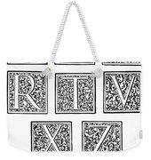 Decorative Initials, C1600 Weekender Tote Bag
