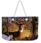 Deer In The Forest Weekender Tote Bag