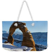Delicate Arch With Snow Arches National Park Utah Weekender Tote Bag