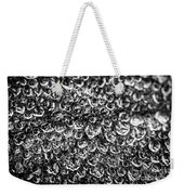 Dew Drops On Leaf Weekender Tote Bag