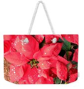Diamond Encrusted Poinsettias Weekender Tote Bag