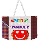 Did You Smile Today Background Designs  And Color Tones N Color Shades Available For Download Rights Weekender Tote Bag
