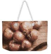 Digital Painting Of Brown Onions On Kitchen Table Weekender Tote Bag