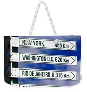 Direction Signs Weekender Tote Bag
