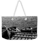 Dock At Island Lake Weekender Tote Bag