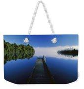 Dock On Lake Mapourika Weekender Tote Bag