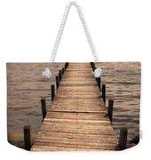 Dock On Mountain Lake Weekender Tote Bag