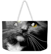 Domestic Gray And White Short Hair Weekender Tote Bag