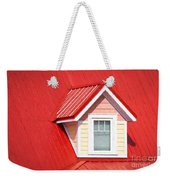 Dormer Window On Red Roof Weekender Tote Bag