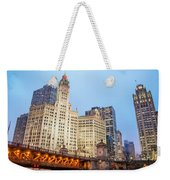 Downtown Chicago View Weekender Tote Bag