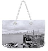 Downtown Seattle As Seen From Alki Beach Weekender Tote Bag