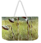 Dried Up Sunflower Patch Weekender Tote Bag